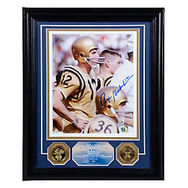 Dallas Cowboys Roger Staubach Navy Quarterback Autographed Photo Mint