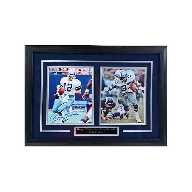 Dallas Cowboys Staubach & Dorsett Autographed Framed Photos