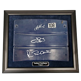 Dallas Cowboys Triplets Framed Autographed Seat Back