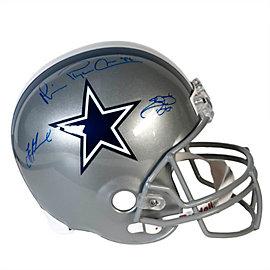 Dallas Cowboys Triplets Autographed Helmet