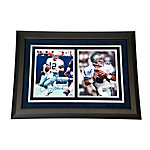 Dallas Cowboys Aikman and Staubach Dual Framed Autographed Photos