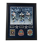 Dallas Cowboys Triplets 16x20 Autographed Framed Photo