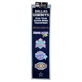 Dallas Cowboys Super Bowl Heritage Banner