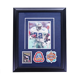 Dallas Cowboys Emmit Smith Autographed Photo with Super Bowl Patches