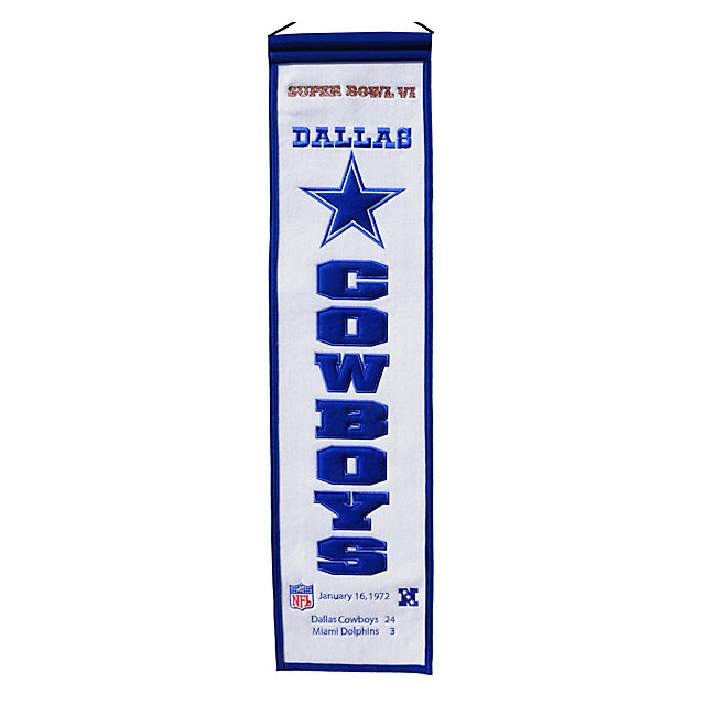Dallas Cowboys Super Bowl VI Heritage Banner