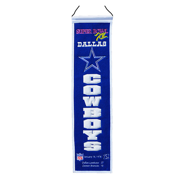 Dallas Cowboys Super Bowl XII Heritage Banner