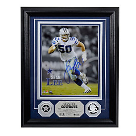 Dallas Cowboys Sean Lee Autographed Silver Coin Photo Mint