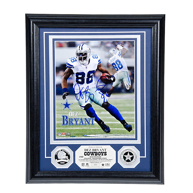 Dallas Cowboys Dez Bryant Autograph Silver Coin Photo Mint