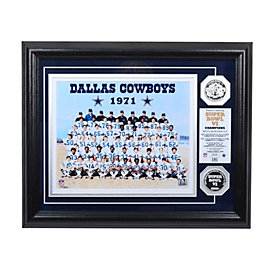 Dallas Cowboys 1971 Super Bowl Championship Team Photo Mint
