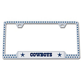 Dallas Cowboys Bling Premium License Plate Frame - Blue