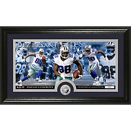 Dallas Cowboys Dez Bryant Panoramic Photo Mint with Coin