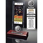 Dallas Cowboys Super Bowl 6 Ticket & Game Coin Collection Acrylic