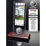 Dallas Cowboys Super Bowl 12 Ticket & Game Coin Collection Acrylic