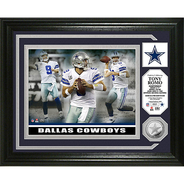 Dallas Cowboys Romo Silver Coin Photo Mint