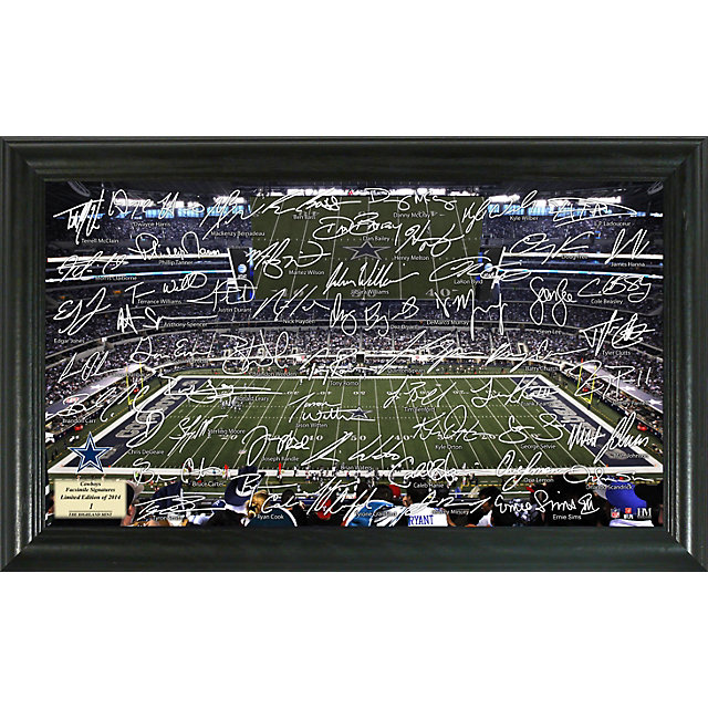 Dallas Cowboys 2014 Signature Gridiron Framed Photo