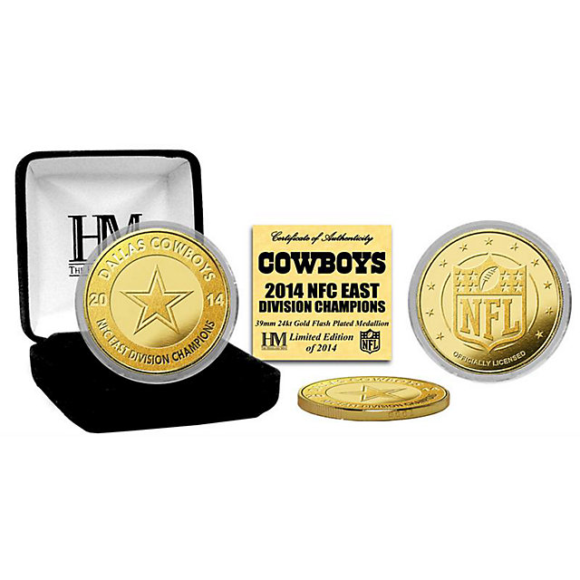 Dallas Cowboys 2014 NFC East Champions Gold Plated Mint Coin