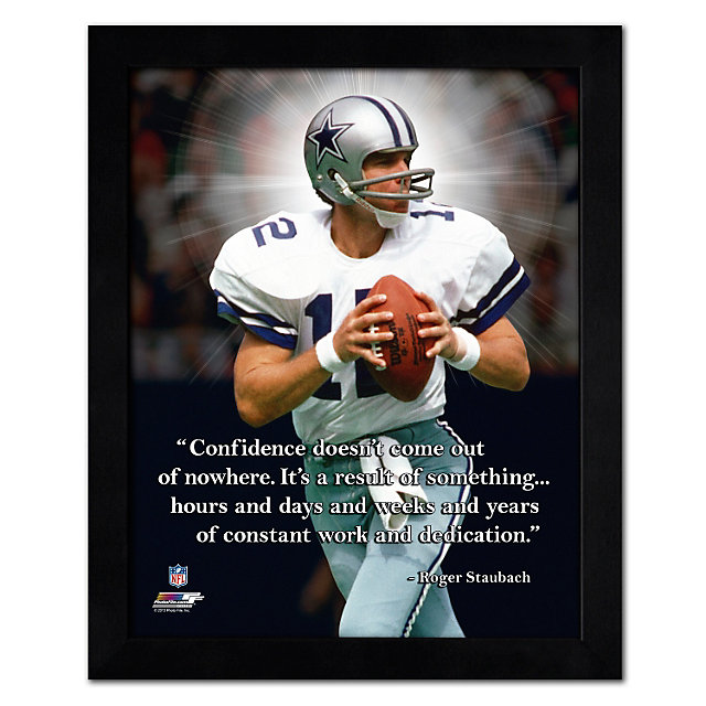 Dallas Cowboys 12x15 Roger Staubach Pro Quote Photo