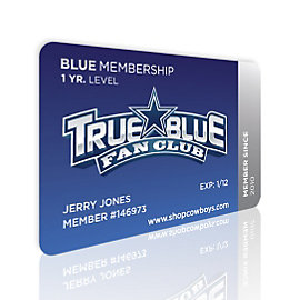 Dallas Cowboys True Blue Official Fan Club