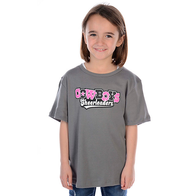 Dallas Cowboys Cheerleader Youth Applique T-Shirt