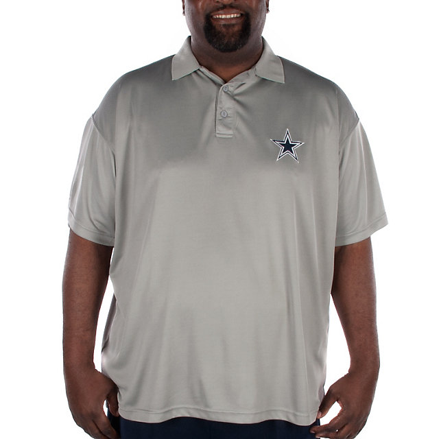 Dallas Cowboys Big and Tall Pebble Tech Polo