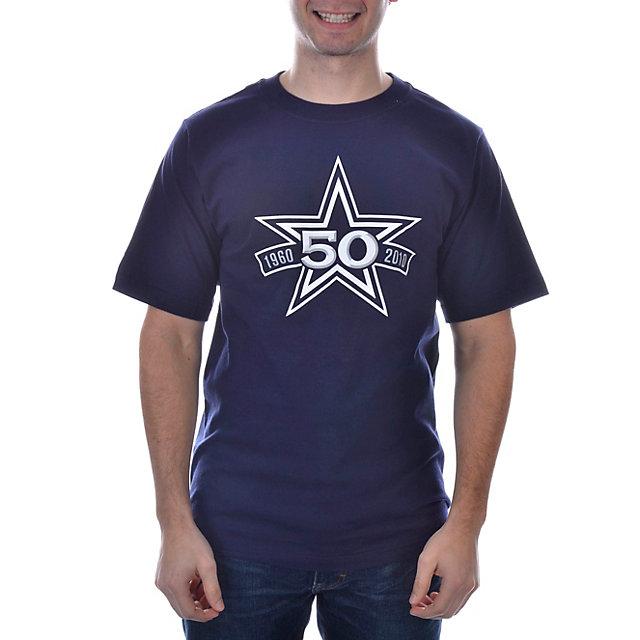 Dallas Cowboys 50th Logo Stats T-Shirt