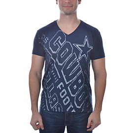 Dallas Cowboys Type Over V-Neck T-Shirt