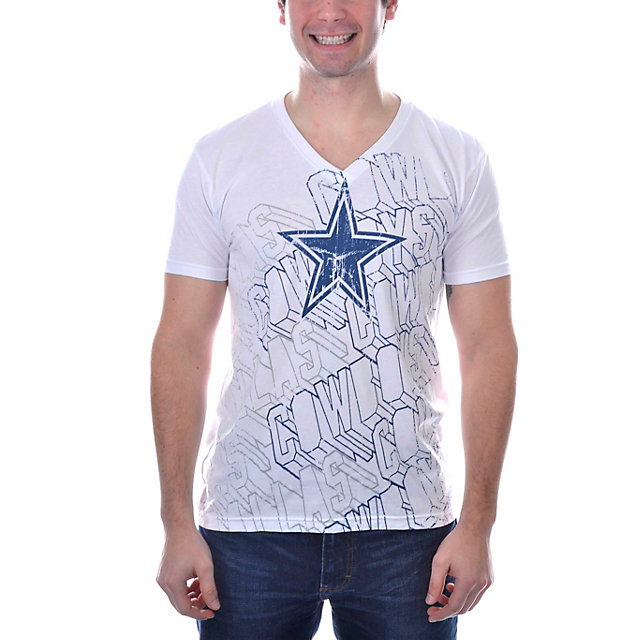 Dallas Cowboys Dimensional V-Neck T-Shirt