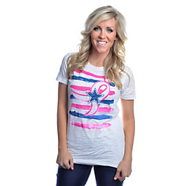 Dallas Cowboys Water Color Star Burnout Tee