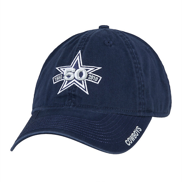 Dallas Cowboys 50th Anniversary Slouch Adjustable Cap