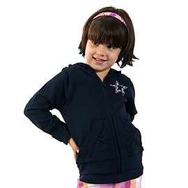 Dallas Cowboys Girls Fleece Full Zip Jacket