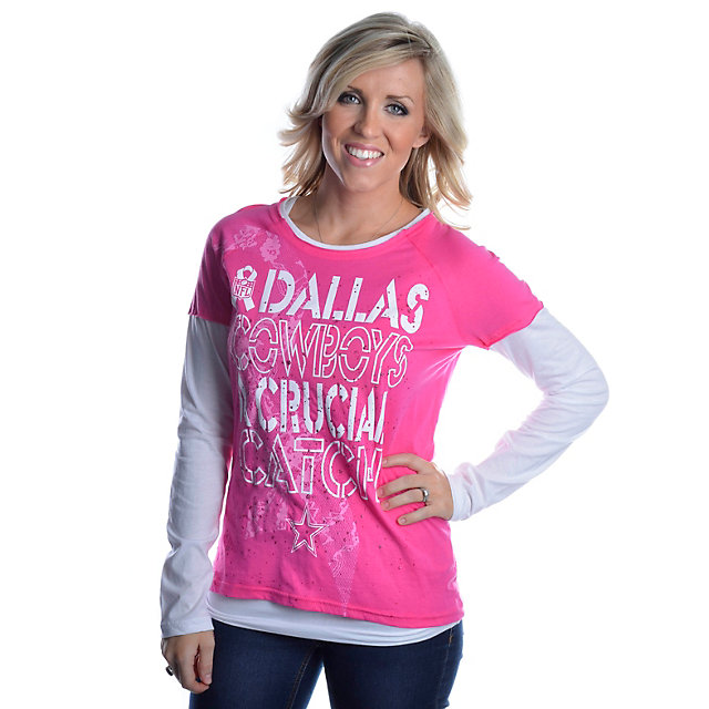 Dallas Cowboys BCA Laced Up Long Sleeve T-Shirt