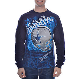 Dallas Cowboys Helmitude Long Sleeve T-Shirt