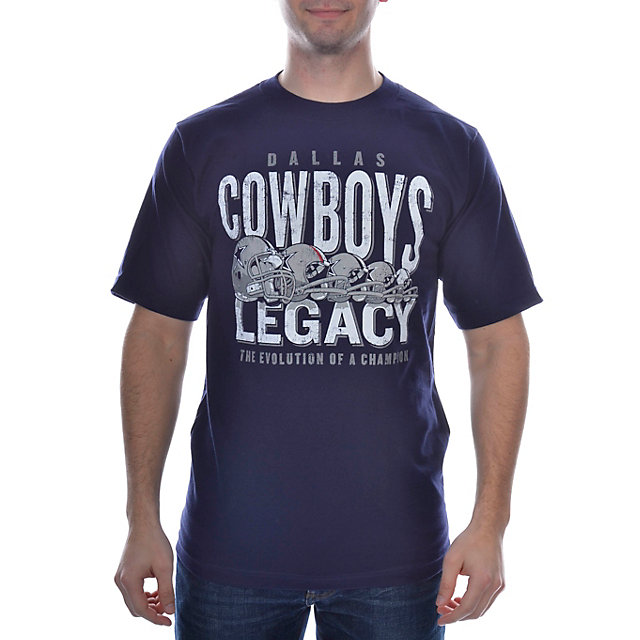 Dallas Cowboys Evolution Helmet T-Shirt