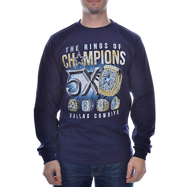 Dallas Cowboys Rings of Champions Long Sleeve T-Shirt