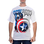 Dallas Cowboys MARVEL Captain America Shield T-Shirt
