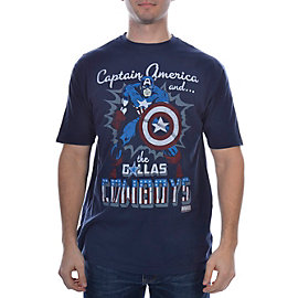 Dallas Cowboys MARVEL Captain America Action Ready T-Shirt