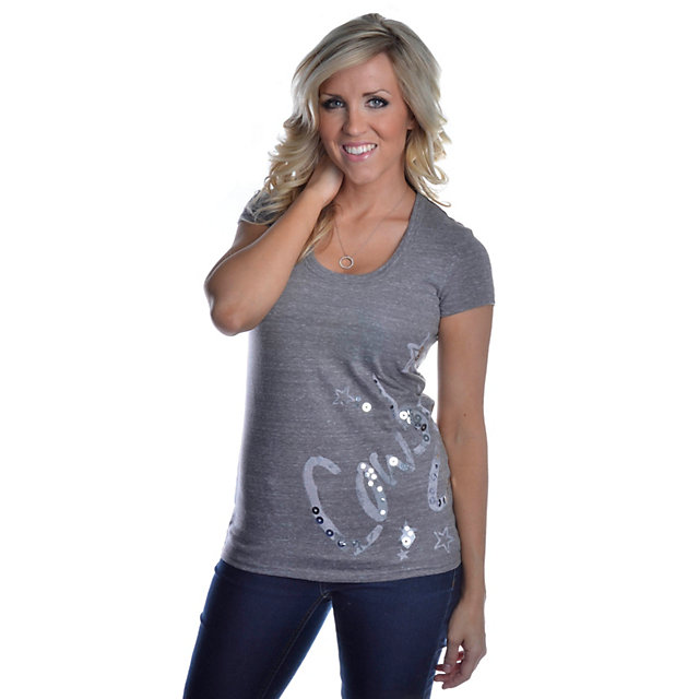 Dallas Cowboys Annie Scoop Neck T-Shirt