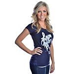Dallas Cowboys Womens Lace Back Burnout T-Shirt