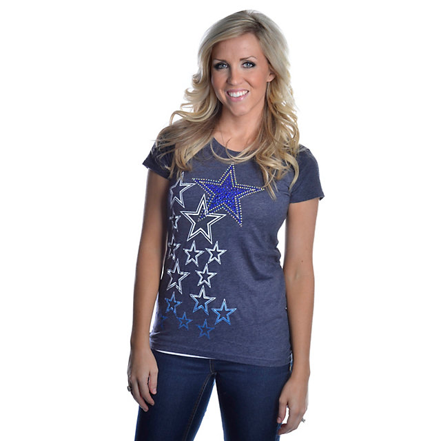 Dallas Cowboys Multi Rhinestone Logo Too T-Shirt