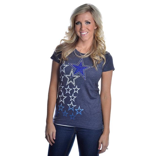 Dallas Cowboys Multi Rhinestone Logo Too T-Shirt