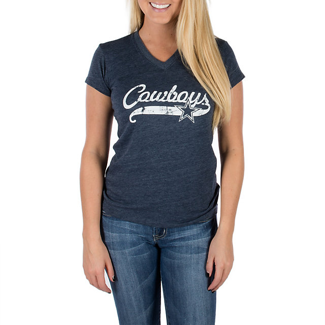 Dallas Cowboys Script Star V-Neck Tee