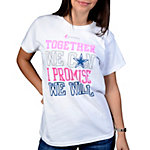 Dallas Cowboys Womens We Can Short Sleeve T-Shirt