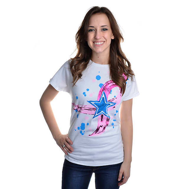 Dallas Cowboys Womens Finger Paint Short Sleeve T-Shirt