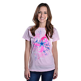 Dallas Cowboys Womens ipromise Ornate Swirl Short Sleeve T-Shirt