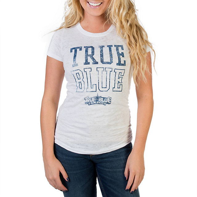 Dallas Cowboys TRUE BLUE Burnout T-Shirt