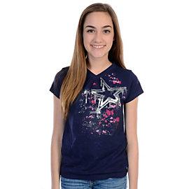 Dallas Cowboys Girls Sweet and Sour V-Neck Burnout T-Shirt