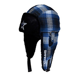 Dallas Cowboys Bottle Opener Flannel Bomber Hat