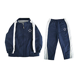 Dallas Cowboys Infant Four Square Windsuit
