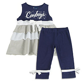 Dallas Cowboys Toddler Hoola Hoop Top and Legging