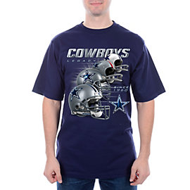 Dallas Cowboys Helmet History T-Shirt